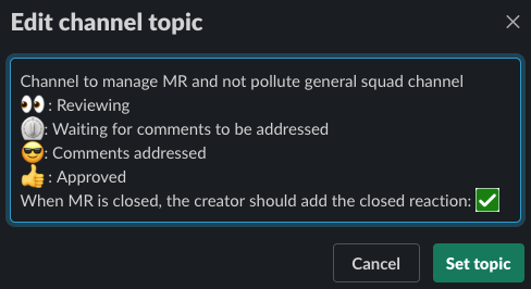 MR channel topic